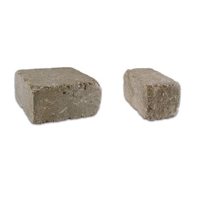 Lakeland II 8 in. L x 12 in. W x 4 in. H Bluestone Set Tumbled Concrete Wall Block (20-sets/6.5 sq. ft./pack)