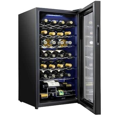 16.9 in. 28 Bottle Compressor Freestanding Wine and Beverage Cooler