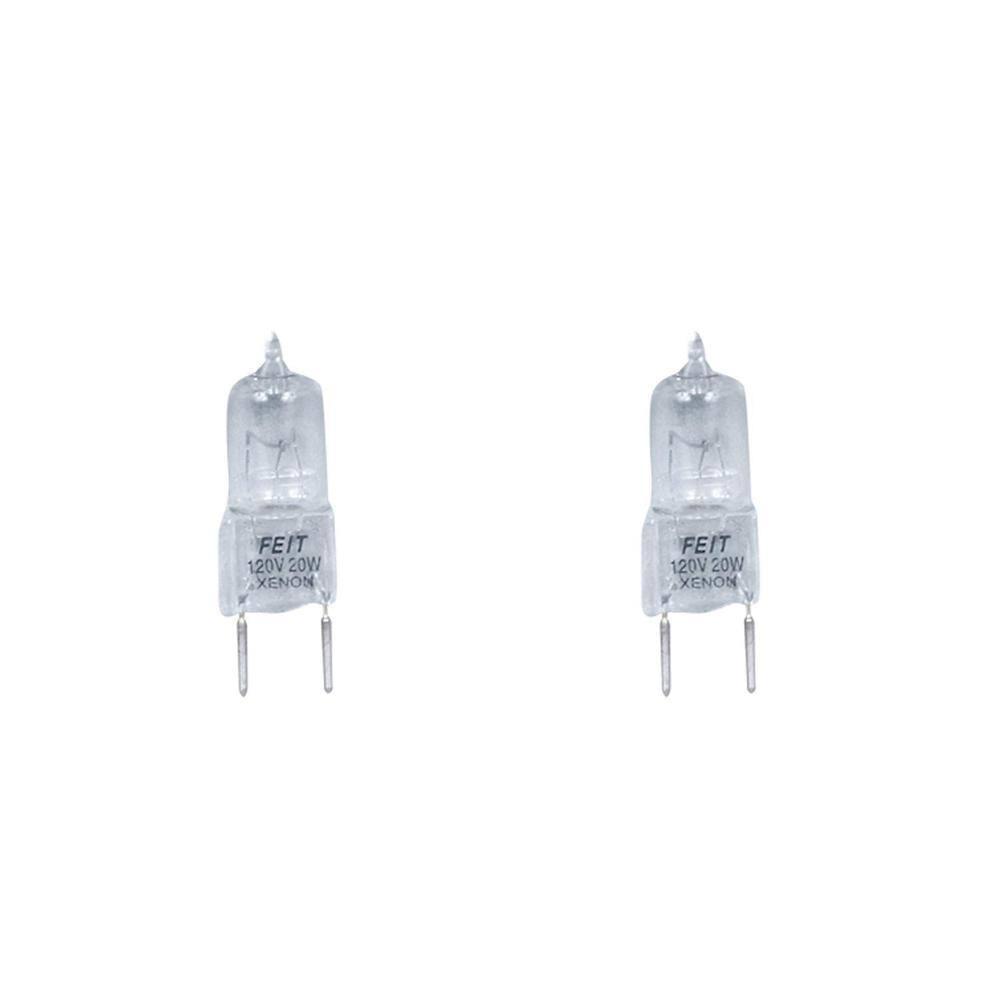Pack of 10 Q20//GY8 20 Watt T4 G8 Base JC Type 120 Volt Halogen Light Bulbs