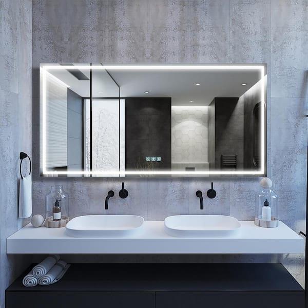 Boyel Living 72 In W X 36 H, Frameless Vanity Mirror 72 Inches