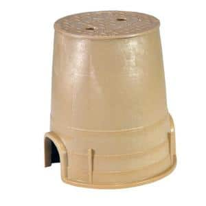 6 in. Standard Round Valve Box and Cover in Sand
