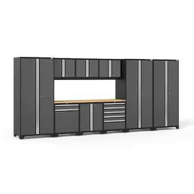 Pro Series 10-Piece 18-Gauge Steel Garage Storage System in Charcoal Gray (192 in. W x 85 in. H x 24 in. D)