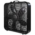 20 in. High Performance Box Fan with Carry Handle in Black