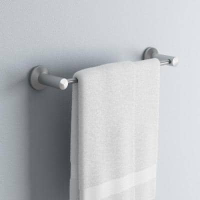 Nirvana 18 in. Towel Bar in Satin Nickel