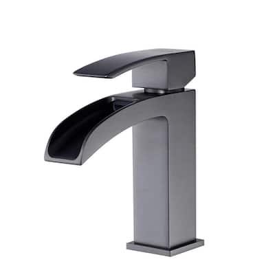 Liberty Single Hole Single-Handle Bathroom Faucet in Gun Metal