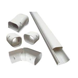 4 in. x 14 ft. Cover Kit for Air Conditioner and Heat Pump Line Sets - Ductless Mini Split or Central
