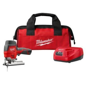 M12 12-Volt Lithium-Ion Cordless Jig Saw Kit with One 1.5 Ah Battery, Charger, Tool Bag
