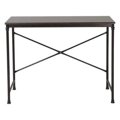32 in.x 20 in. Espresso Wood and Metal Computer Desk