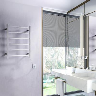Charles Series 6-Bar Stainless Steel Wall Mounted Electric Towel Warmer Rack in Brushed Nickel