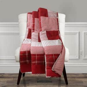 Greenville Red Throw