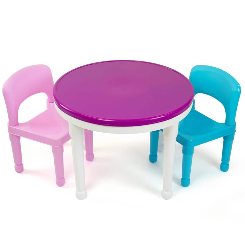 Tot Tutors 2 In 1 Activity Table, Round Lego Table With Chairs