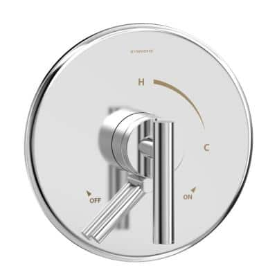 Dia 1-Handle Wall-Mounted Shower Valve Trim Kit  in Polished Chrome (Valve not Included)