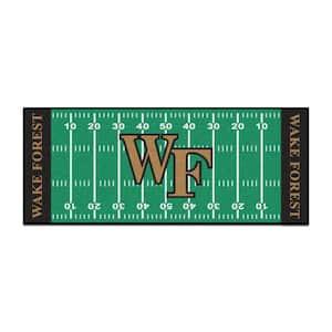 NCAA - Wake Forest University Green 3 ft. x 6 ft. Indoor Football Field Runner Rug