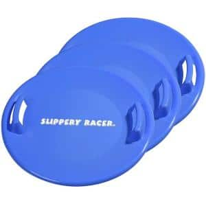 Downhill Pro 26 in. Blue Saucer Disc Winter Snow Sled (3-Pack)
