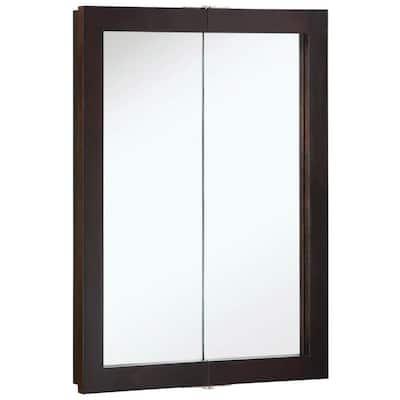 Ventura 24 in. x 30 in. x 6 in. Surface-Mount Bi-View Bathroom Medicine Cabinet in Espresso