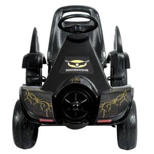 Go Kart Pedal Powered Kids Ride on Car 4 Wheel Racer Toy with Clutch and Hand Brake Black