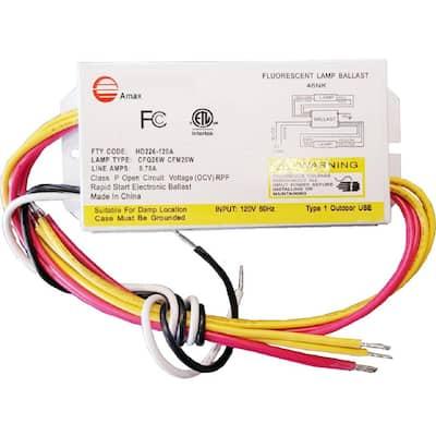 120-Volt 5.13 in. Electronic Ballast 2-PLC 26-Watt Lamps