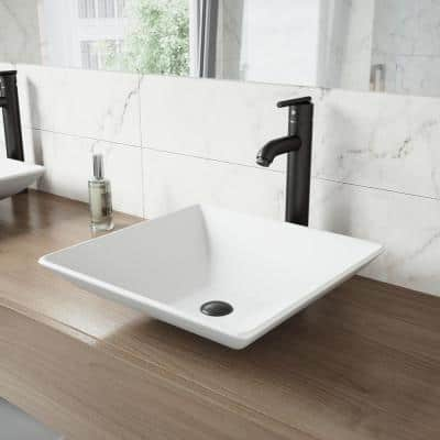 Seville Single-Handle Vessel Sink Faucet in Matte Black