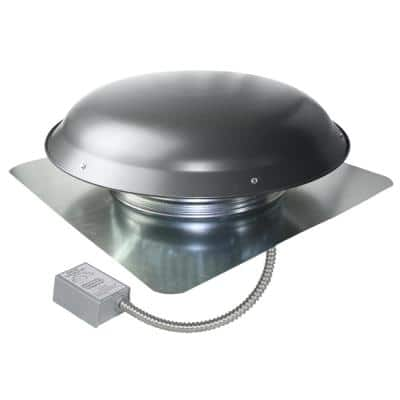 1080 CFM Weathered Grey Galvanized Steel Electric Power Attic Roof Ventilator