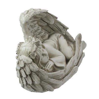 16 in. Sleeping Heavenly Angel Outdoor Garden Statue