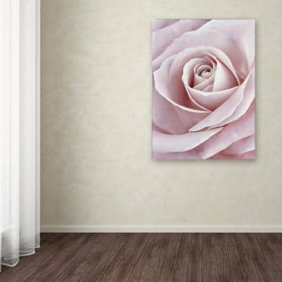 """19 in. x 12 in. """"Pink Rose"""" by Cora Niele Printed Canvas Wall Art"""