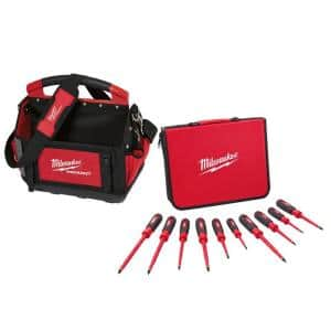 10-Piece 1000-Volt Insulated Screwdriver Set with 15 in. PACKOUT Tote