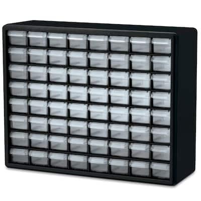 64-Compartment Small Parts Organizer Cabinet