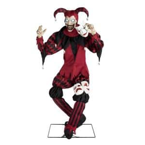 5.5 ft. Animated 3-Faced Jester