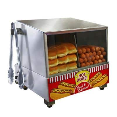 Classic 8 L Stainless Steel Hot Dog Steamer with Temperature Control