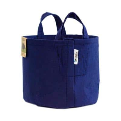 3 Gal. Breathable Boxer Navy Fabric Planting Containers with Handle and Pots Planter (5-Pack)