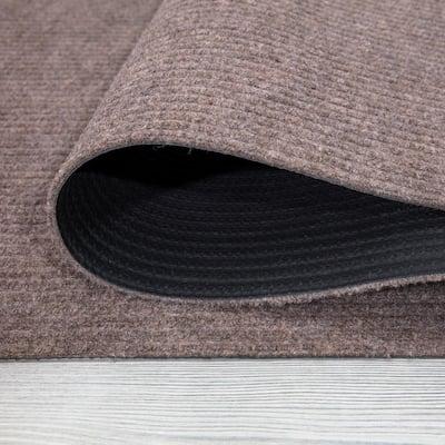 Lifesaver Collection Beige 24 in. x 36 in. Utility Ribbed Indoor/Outdoor Doormat
