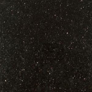 3 in. x 3 in. Granite Countertop Sample in Black Galaxy