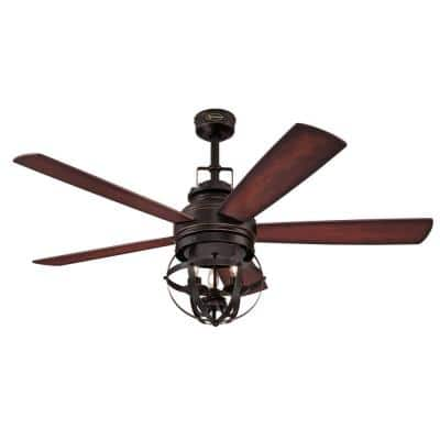 Stella Mira 52 in. Indoor Oil Rubbed Bronze Ceiling Fan with Remote Control