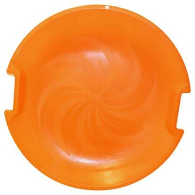 ESP Series 26 in. Day Glow Super Saucer V Disc Sled with Molded Handles and Textured Interior in Neon Orange