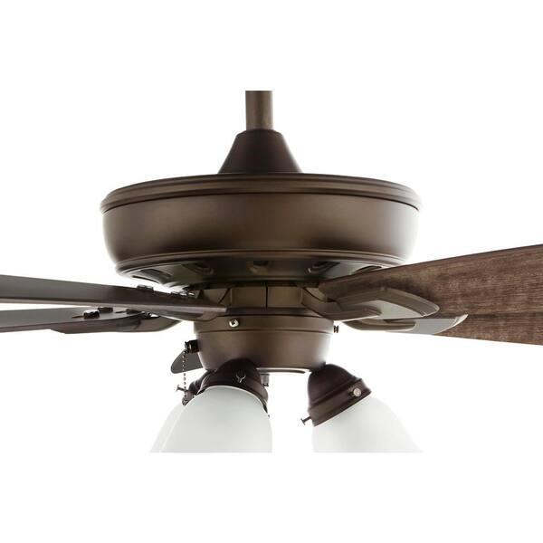 Wellton 60 in LED Espresso Bronze DC Motor Ceiling Fan with Light by Hampton Bay