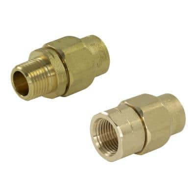 1/2 in. CSST MPT/FPT Stainless Steel Adapter Kit (1) 1/2 in. MPT Male Adapter (1) FPT Female Adapter