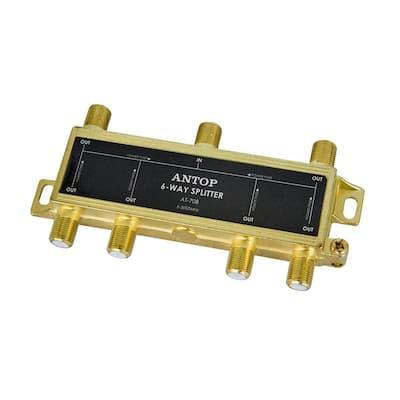 6 inches SUPERBAT F-Type Splitter Cable F Male to F Dual Female Coax Splitter Cable V-Type F Type TV Splitter Cable Satellite 50ohm 15cm
