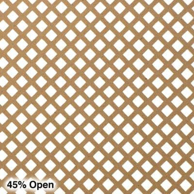 72 in. x 24 in. x 1/8 in. Unfinished Diamond Decorative Perforated Paintable MDF Screening Panel Insert