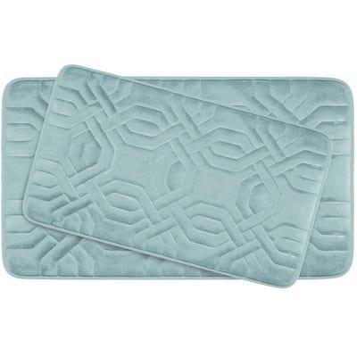 Chain Ring Aqua Memory Foam 2-Piece Bath Mat Set