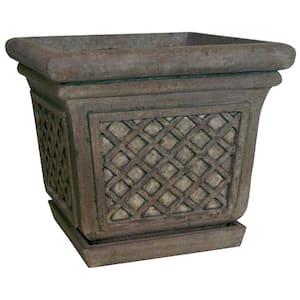 24 in. Sq. in Granite Stone Square Lattice Pot