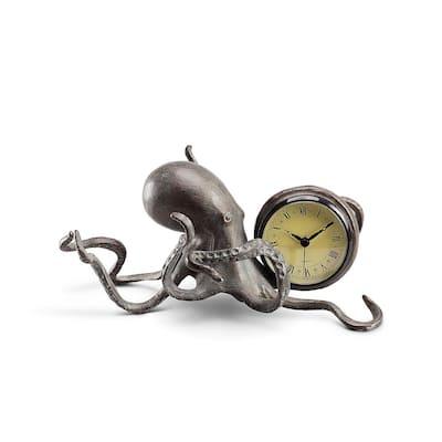 Bronze Octopus Clock