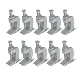 Wide Mouth Beam Clamp for 3/8 in. Threaded Rod in Electro Galvanized Steel (10-Pack)