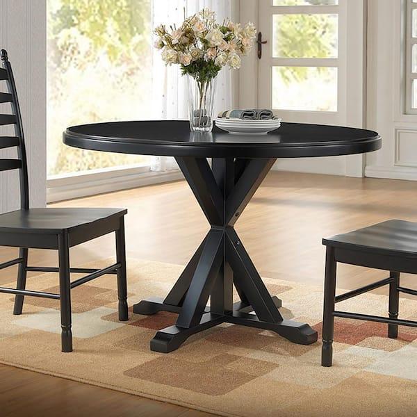 Ina Classics Monet Antique Black X, X Base Dining Room Table