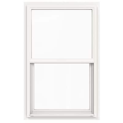 30 in. x 42 in. V-4500 Series White Single-Hung Vinyl Window with Fiberglass Mesh Screen