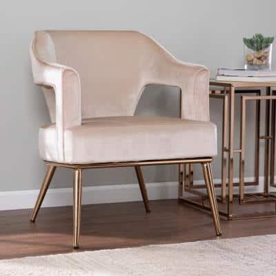Reeghan Taupe with Champagne Upholstered Accent Chair