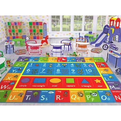 Kids Rugs Sports Theme Carpet Playroom Mats Nursery Grey Black Boys Room Carpet
