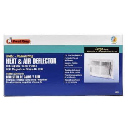 4-1/8 in. x 10-1/8 in. Plastic Sidewall Heat and Air Deflector