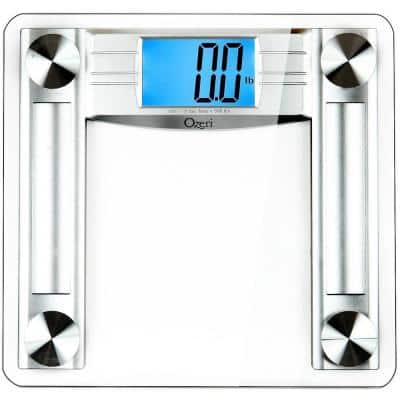 ProMax 560 lbs / 255 kg Bath Scale, with 0.1 lbs / 0.05 kg Sensor Technology, and Body Tape Measure & Fat Caliper