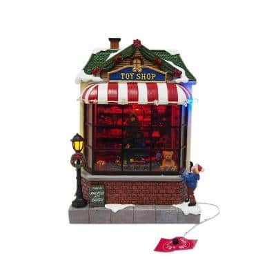 9.5 in. Animated Toy Shop