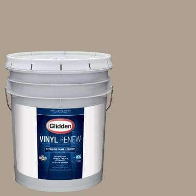 5 gal. #HDGWN38 Heron Grey Low-Lustre Exterior Paint with Primer